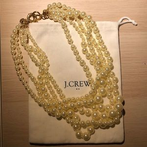 J Crew twisted hammock pearl necklace